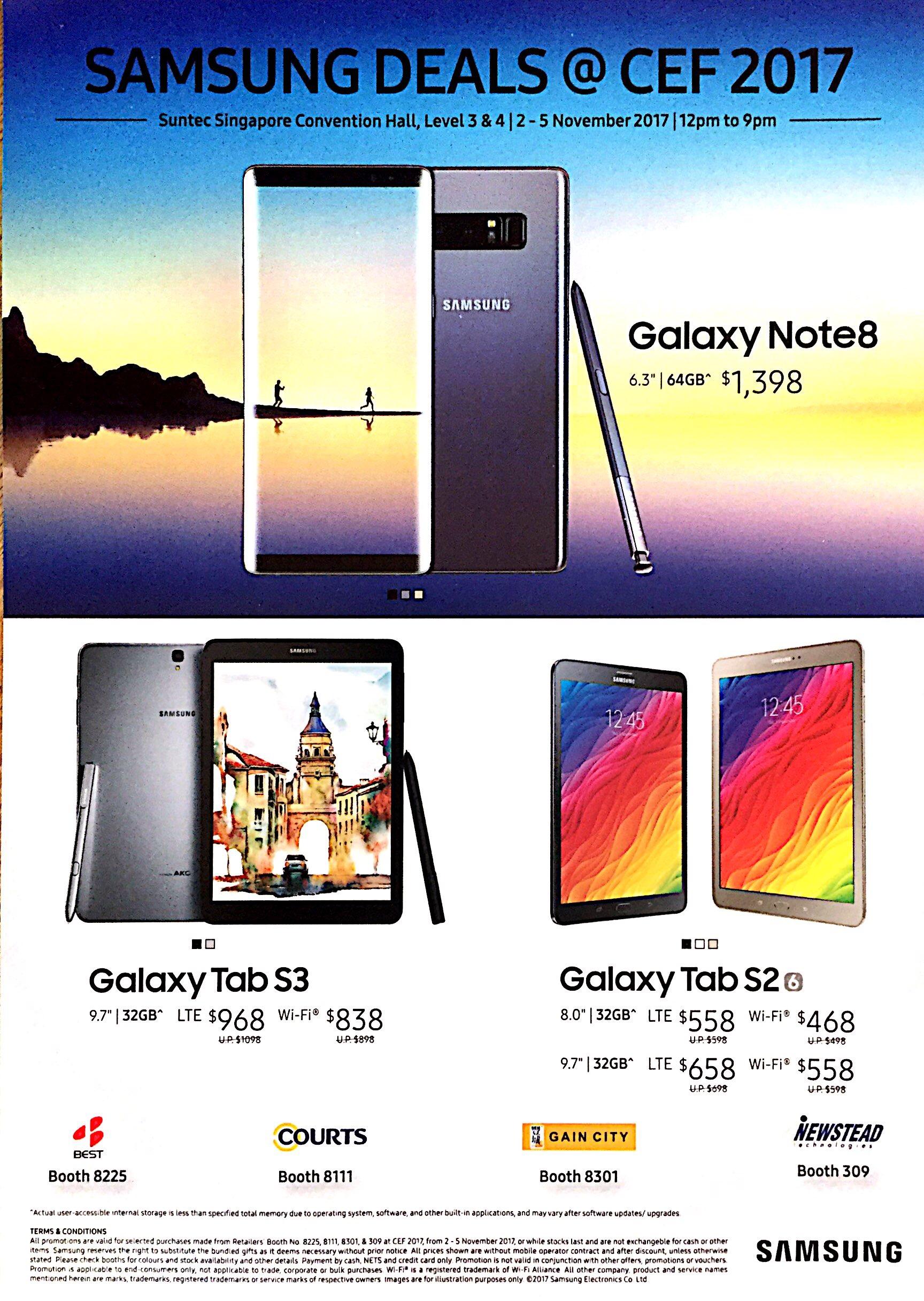 Samsung Deals @ CEF Show 2017 | Brochure pg1