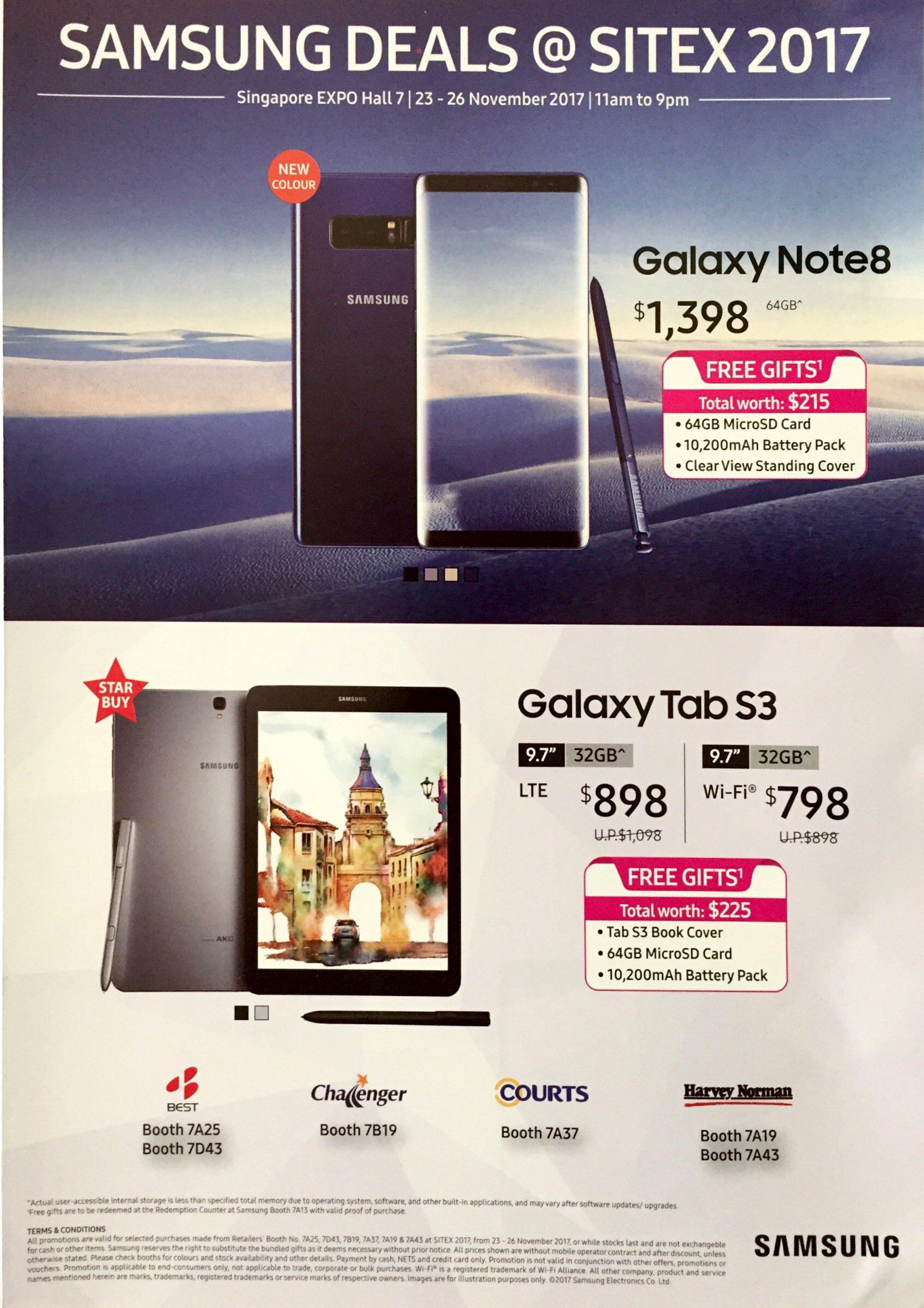 Samsung Deals @ SITEX 2017 | Brochure pg1