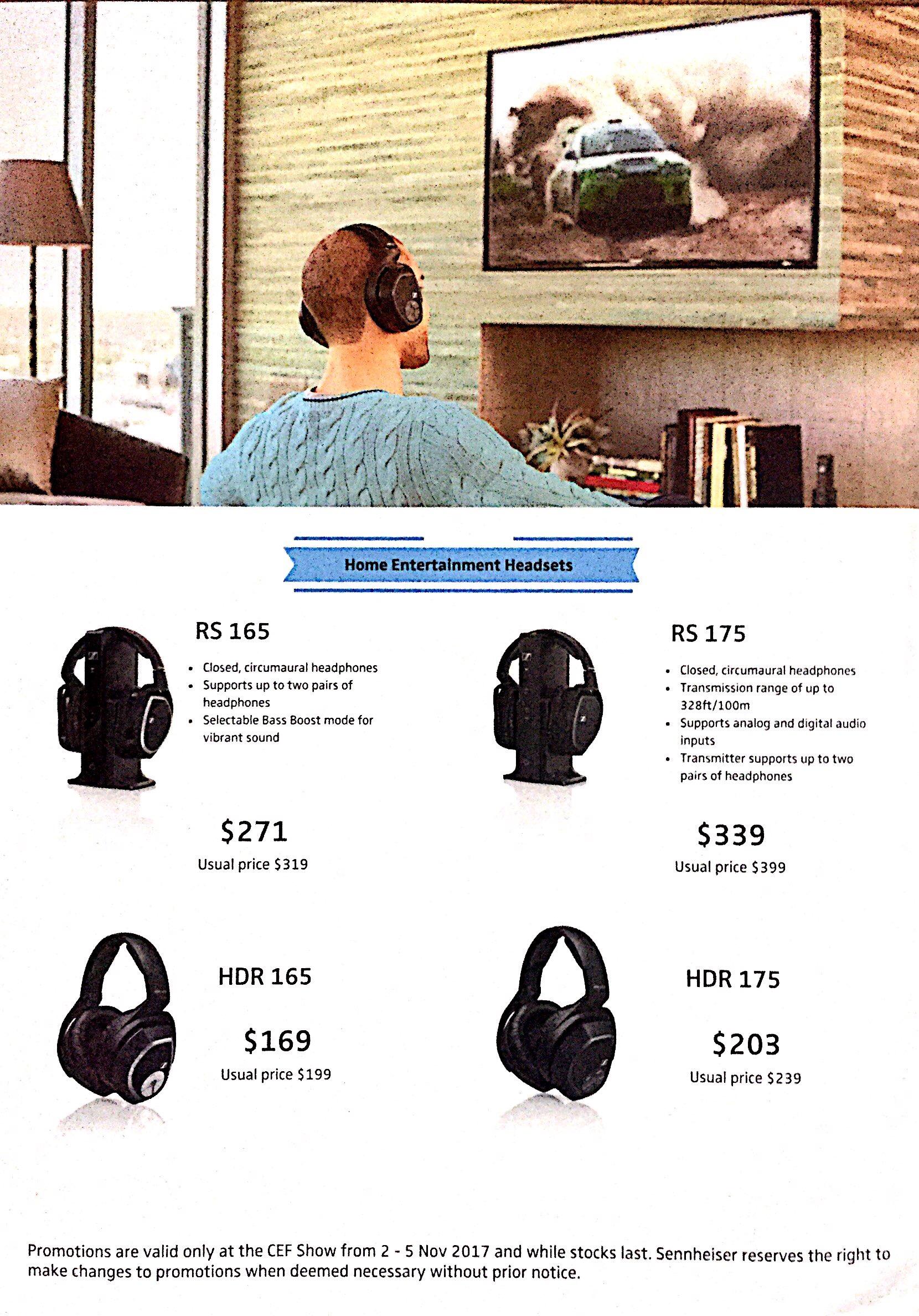 Sennheiser Headphones Deals @ CEF Show 2017   Brochure pg3