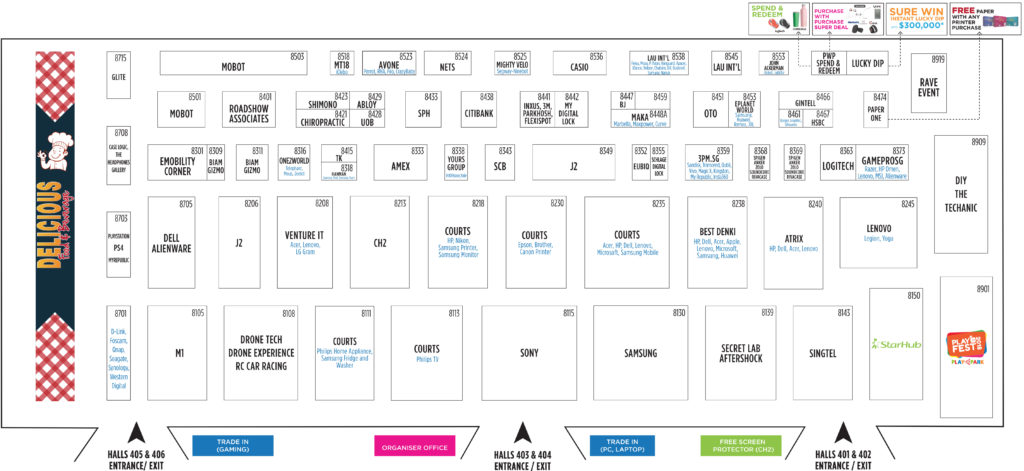 The Tech Show 2018 Floor Plan Level 4