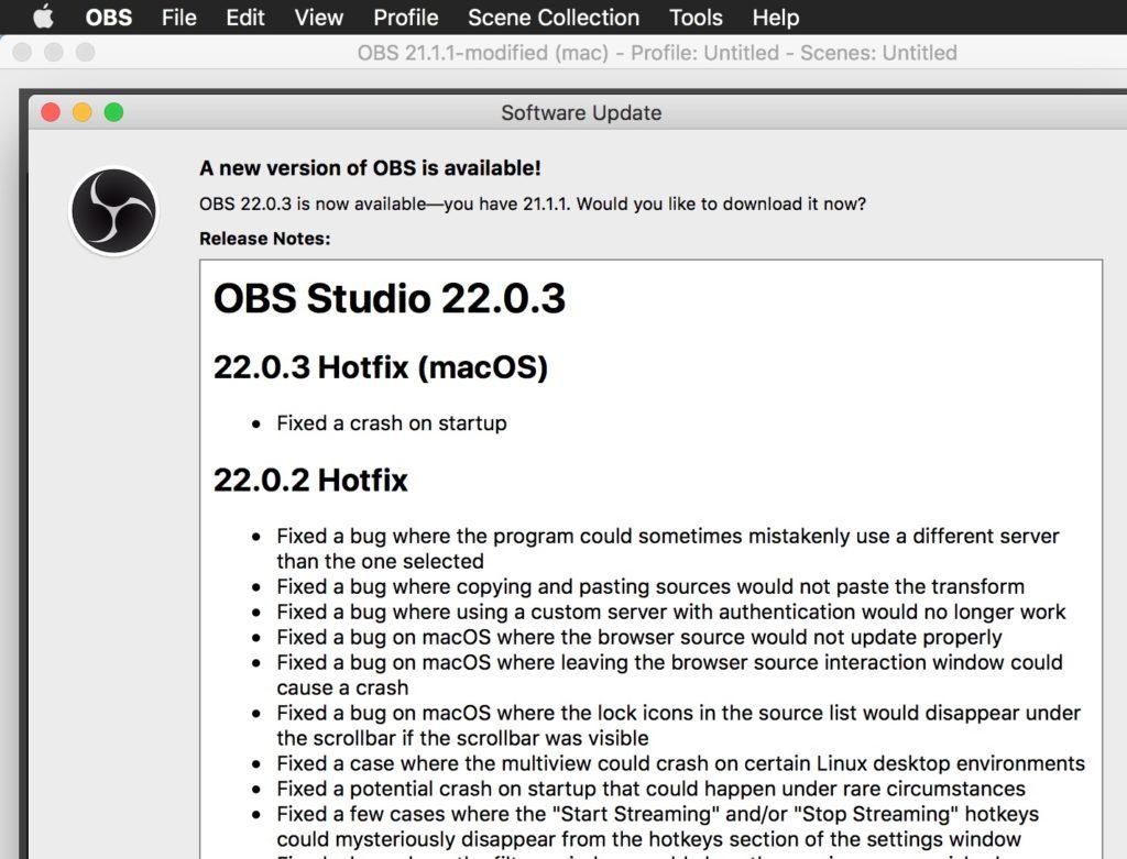 obs mac download