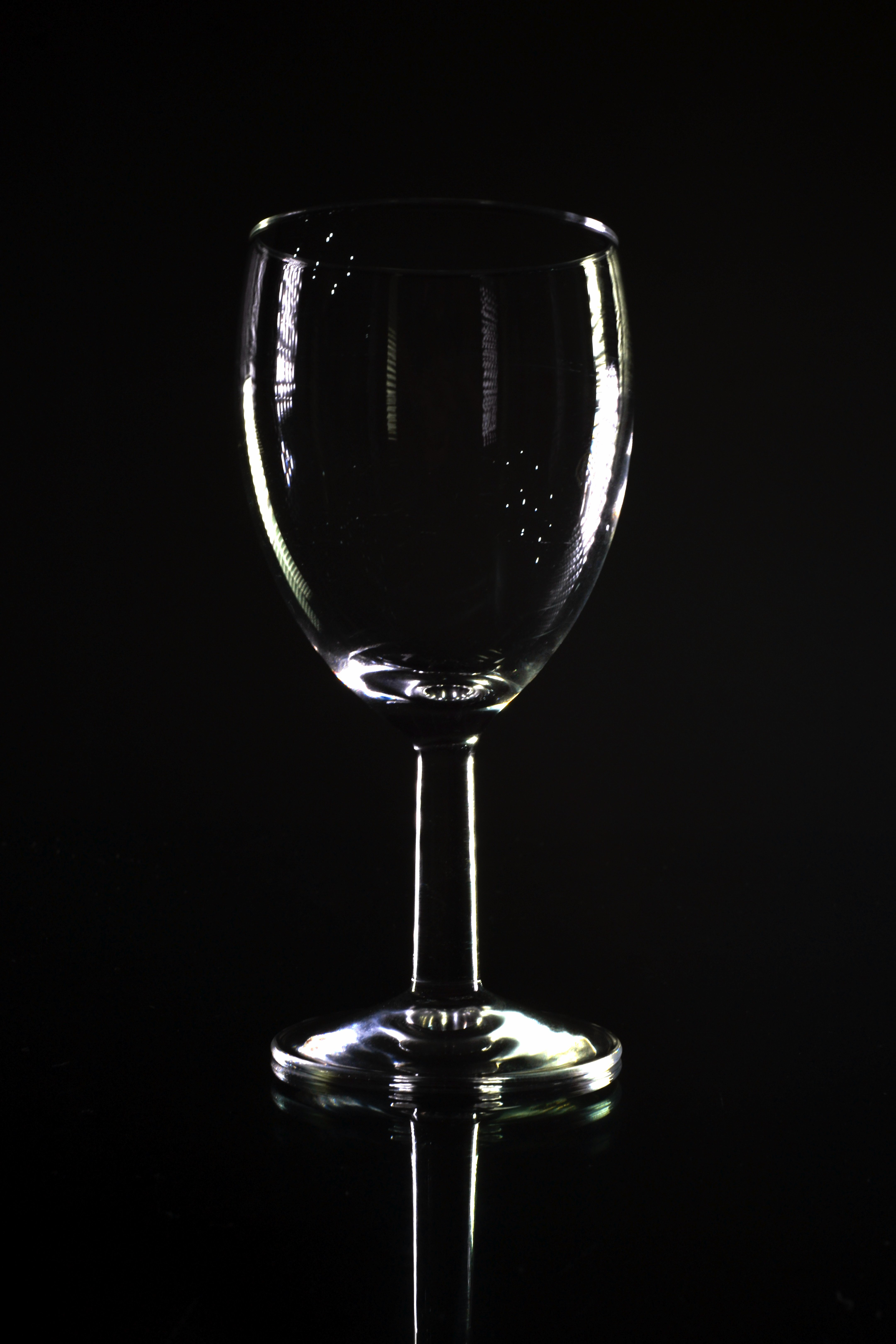 Stock Photo of Empty Wine Glass Shape Outlined with Black ...
